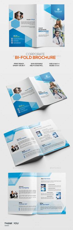 Corporate Bifold Brochure - Corporate Brochures | DOWNLOAD : https://graphicriver.net/item/corporate-bifold-brochure/21803420?ref=sinzo