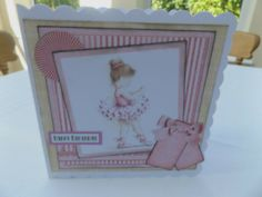 Beautiful ballerina in soft pinks and cream coffee colours. Personalized Birthday Banners, Happy Birthday Bunting, Personalized Balloons, Girl Birthday Cards, Happy Birthday Balloons, Toy Story Birthday, 50th Birthday Gifts, Handmade Birthday Cards, Hanging Letters