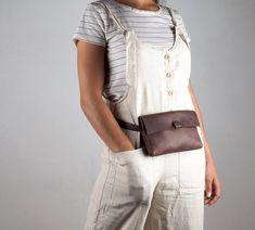 Women Brown leather Pocket bag leather fanny pack hygge | Etsy Small Leather Bag, Leather Fanny Pack, Leather Belt Bag, Brown Leather Belt, Black Leather Bags, Leather Laptop Backpack, Black Leather Backpack, Vintage Backpacks, Belt Bags