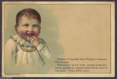 Fergusons Quick Cure Medicine Victorian Trade Card Baby Child #FergusonsQuickCure