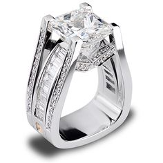 7.07ct Radiant Cut Diamond set in Platinum