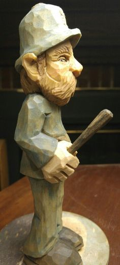 Dwayne Gosnell roughout carved by Mitchell Cartledge