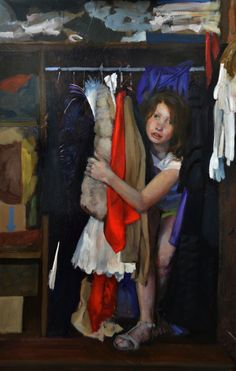 Sophie MORISSE, L'armoire, 130 x 97 cm, huile sur toile