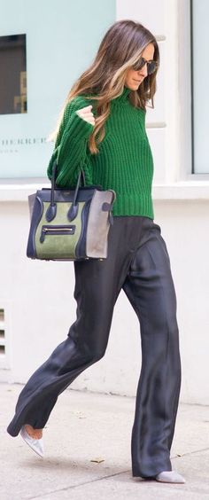 Navy And Green Fall Inspo by Something Navy