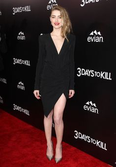 """Amber Heard At The """"3 Days To Kill"""" Premiere"""