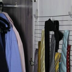 Organize your copious amount of ties Hang a cooling rack with command hooks for an instant tie rack. (Shawna B.) *** Instead of ties, organize scarves!