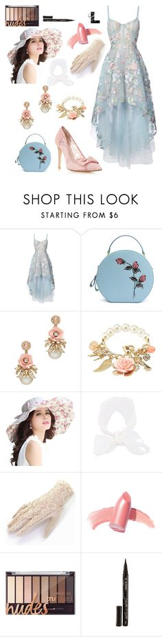 """""""Wildest dreams"""" by wedontneednoeducation ❤ liked on Polyvore featuring Notte by Marchesa, Charlotte Russe, Le Chapeau by Alakazia, Elizabeth Arden and Smith & Cult"""