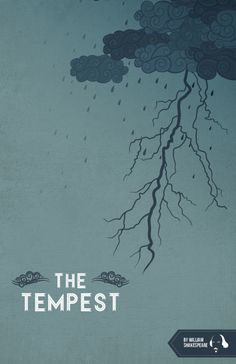 Minimalist poster design for The Tempest.