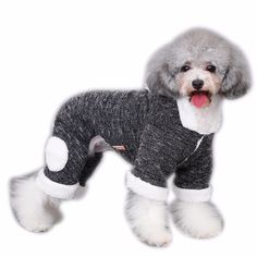 Winter Warm Dog Cat Hoodie Fleece Lined Coat