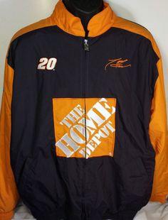 Vintage NASCAR Tony Stewart Mens Large Lightweight Jacket #Chase #JoeGibbsRacing