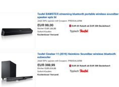 """Ebay: Teufel-Produkte zu Bestpreisen dank """"Preisalarm""""-Gutschein https://www.discountfan.de/artikel/technik_und_haushalt/ebay-teufel-produkte-zu-bestpreisen-dank-preisalarm-gutschein.php Durch die neue """"Preisalarm""""-Aktion bei Ebay sind jetzt auch zahlreiche Audio-Produkte von Teufel zu Bestpreisen zu haben: So gibt es den Bluetooth-Lautsprecher """"Bamster Streaming"""" für unter 80 Euro. Ebay: Teufel-Produkte zu Bestpreisen dank... #Bluetooth, #Lautspre"""