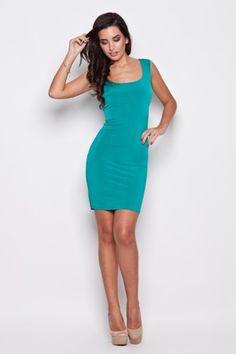 24a4a6e621ee Dámské šaty K081 - Katrus - S - zelená Bodycon Dress