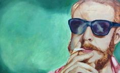 Bon Iver  Oil Painting Portrait by Abby Darlin' at fearofbears.net on Etsy, $150.00