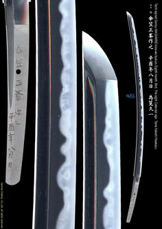 Tachi signed Sanryu MASAMINE kore-wo-tsukuru Eighth month, Bird, the eighth calendar sign A masterpiece from a living national treasure of Japan - note the AMAZING hamon on this blade! :)