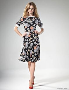 ribbon print dress leona edmiston picture - Google Search