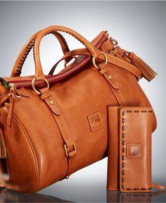 Dooney & Bourke Florentine Vachetta Satchel and Checkbook Organizer Gift Set - Dooney & Bourke Florentine Collection - Handbags & Accessories - Macy's
