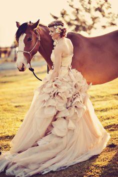 pink / blush wedding gown, Vera Wang <3