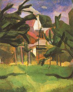 Berény, Róbert (1887-1953) - Garden, 1911