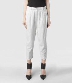 Womens Scylla Aria Trouser (White) | ALLSAINTS.com