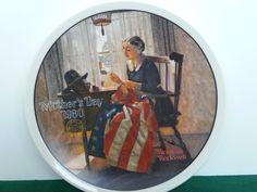 Mothers Pride Mothers Day Series Norman Rockwell COA Knowles Bradford Plate #KnowlesBradfordExchange