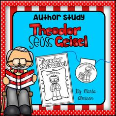 This is a fun author study unit on Theodore Seuss Geisel appropriate for young children. Includes: Graph organizers (circle and bubble maps). Four writing templates. Two different scavenger hunts for Dr. Seuss books. Reading log. Mini-Biography: 5 pages plus the cover (half-pages, you can print 2 pages per sheet).