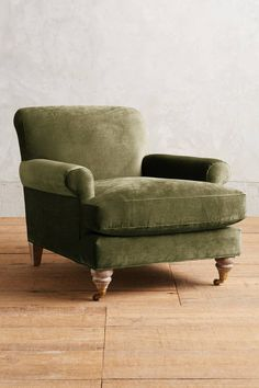 Slide View: 1: Slub Velvet Willoughby Chair, Wilcox