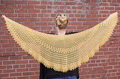 """A unique tunisian-lace shawl, with what I like to call """"cnupps"""" (yes, folks, that's short for crochet-nupps!), inspired by the beauty of estonian knitted lace. Argo features two large panels decorated with vines and cnupps for a really classic look."""