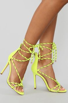 6a978a6b6dca Move It Heeled Sandal - Neon Yellow