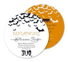 Einladung Party Fledermausschwarm (RO1 58) · Einladungskarten SonstigesHochzeitBastelnIdeenHalloween ...