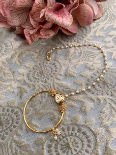 Nose Ring Stud, Nose Rings, Desi, Jewellery, Pearls, Metal, Bracelets, Gold, Hair