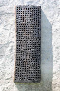 2 Relief Wandobjekt Holz Alexander Heil