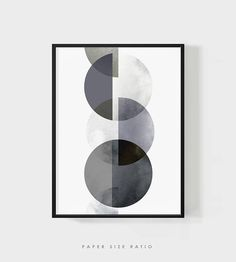 MOON PHASES WALL Art Modern Art Abstract Phases of the Moon