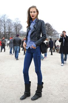 Are any of our Lambrini Cider Ladies confident enough to rock double denim? This young lady has got it spot on