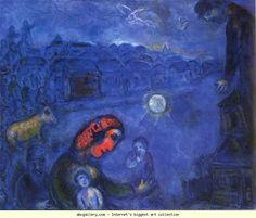 Marc Chagall. Blue Village. Olga's Gallery.