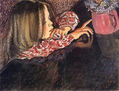 Stanisław Wyspiański, A girl with the flowerpot, 1902