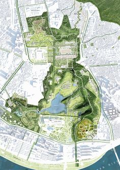 West 8 Urban Design & Landscape Architecture / projects / Yongsan Park by petra Architecture Temple, Plans Architecture, Landscape Architecture Drawing, Landscape And Urbanism, Architecture Graphics, Landscape Plans, Urban Landscape, Landscape Design, Architecture Portfolio