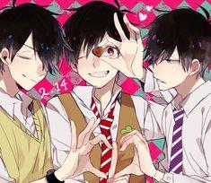 Osomatsu-san- Osomatsu, Karamatsu & Ichimatsu #Anime「♡」 CbK2qH1UUAAqaog.jpg (600×520)