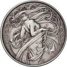 5 oz Antique Mucha Collection Dance Silver Rounds l JM Bullion™ Old Coins, Rare Coins, Custom Coins, Silver Investing, Metal Embossing, Hobo Nickel, Coin Art, Metal Clay Jewelry, Metal Engraving