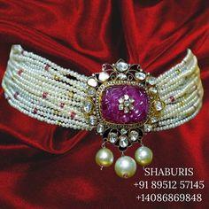 Ruby Jewelry, Bead Jewellery, Gemstone Jewelry, Beaded Jewelry, Jewelery, Silver Jewelry, Latest Jewellery, Beaded Necklace, Necklaces
