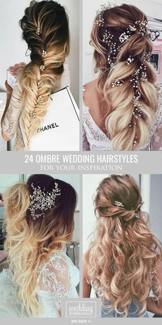24 Modish Ombre Wedding Hairstyles ❤️ Ombre wedding hairstyles are on trend this year. Here are sizzling solutions for black, brown and blond hair. Technique looks good on long and short hair. See more: http://www.weddingforward.com/ombre-wedding-hairstyles/ #weddings #hairstyles