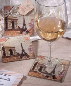 Vintage Paris Themed Coaster Sets