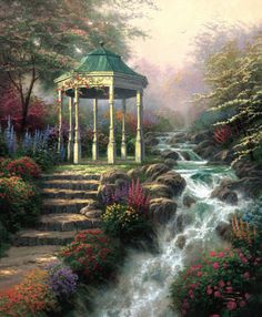 Thomas Kinkade he was great with shadows. More beautiful fine art pics www.freecomputerdesktopwallpaper.com/wfineart.shtml