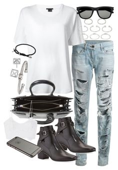 """""""Untitled #18678"""" by florencia95 ❤ liked on Polyvore featuring rag & bone, Theory, Forever 21, Yves Saint Laurent, David Yurman, Rebecca Minkoff and Miguelina"""