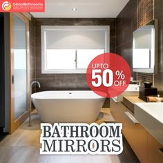 Enhance the decor of your bathroom with the best variety of bathroom mirrors available at Global Bathroom UK.  To buy visit - https://goo.gl/M7Hc6A  #bathroomdecor #mirrors #accessories #onlineshopping