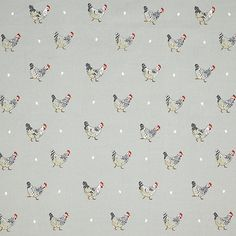 Buy Sophie Allport Chicken Furnishing Fabric from our View All Fabrics range at John Lewis & Partners. Chicken Wallpaper, John Lewis Fabric, Chicken Life, Kitchen Blinds, Kitchen Wallpaper, Country Charm, Fabric Online, Lampshades, Soft Furnishings
