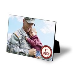 #1 DAD photo easel.  #FathersDay  gifts from Treat.com