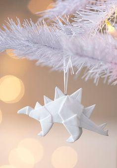 Days of Fold Ornament - Oragami inspired dinosaur ornaments