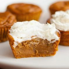 Irresistible Pumpkin Pie Cupcakes | Try a simpler approach to making pumpkin pie with these delicious cupcakes. Get all of the flavor in half the time