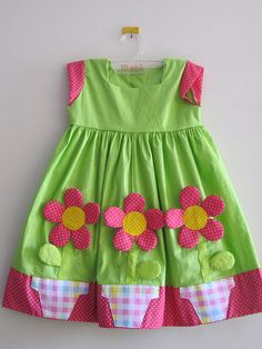 The flowers are adorable.  The couls be easily made for a onsie or skirt.