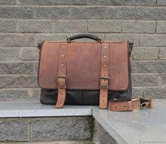 4527fb3d6cd5 Мужская кожаная сумка АСТЕРИОН орехово-шоколадного цвета